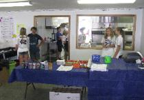 High School Athletic Teams Volunteered for Service at the Badger Boosters Food Booth
